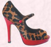 Accessories Shoes 4 - Clat platform animal print shoes with red heel and red platform sole - �70 Faith Footwear.